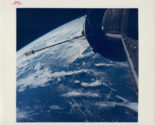 Central Florida, Cape Kennedy at centre left, Gemini 11, 14 September 1966, Vintage chromogenic print, c20 x 25 cm, NASA S65-54565. Courtesy Breese Little.