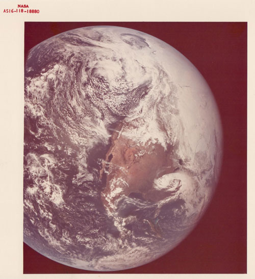 United States, Mexico, Central America, Apollo 16, April 1972, Vintage chromogenic print, c.20 x 25 cm, NASA AS16-118-18880. Courtesy Breese Little.