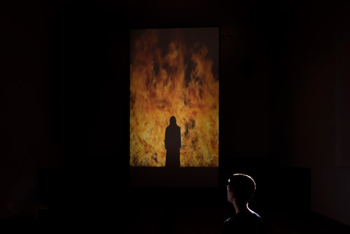 Bill Viola. Fire Woman, 2005. Courtesy Bill Viola Studio and YSP. Photograph © Jonty Wilde.