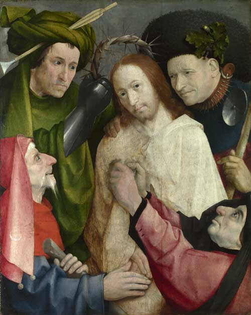 Christ Mocked (The Crowning with Thorns), Hieronymus Bosch about 1490-1500. 