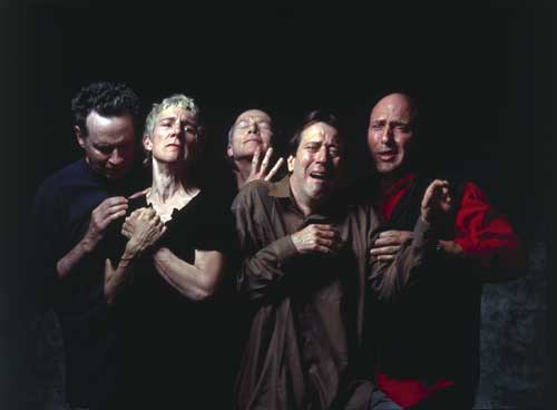 Bill Viola, The Quintet of the Astonished, 2000. Colour video rear projection 