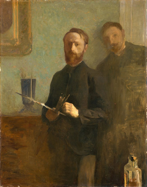 Édouard Vuillard, <em>Self-Portrait with Waroquy</em>, 1889. Oil on canvas. The Metropolitan Museum of Art, New York, Gift of Alex M. Lewyt, 1955.