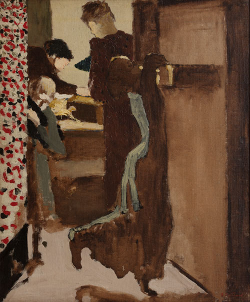 Édouard Vuillard. <em>The Drawer</em>, c1892. Oil on canvas.  V. Madrigal Collection, New York.