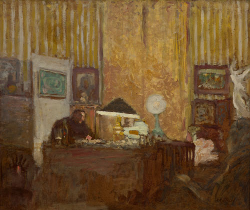 Édouard Vuillard.<em> Thadée Natanson at His Desk</em>, c1899. Oil on cardboard, mounted on panel. Collection of Helen Frankenthaler.