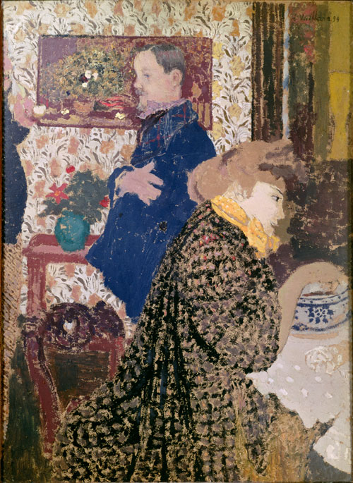 Édouard Vuillard.<em> Misia and Vallotton at Villeneuve</em>, 1899. Oil on cardboard.  Collection of William Kelly Simpson.