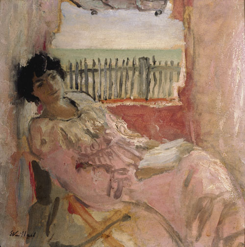 Édouard Vuillard.<em> Lucy Hessel at the Seashore,</em> c1904. Oil on hardboard.  Hammer Museum, Los Angeles, the Armand Hammer Collection, Gift of the Armand Hammer Foundation.