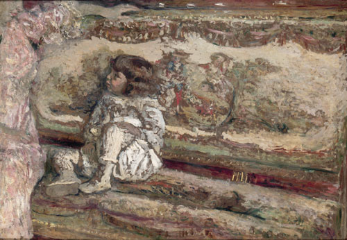 Édouard Vuillard.<em> Claude Bernheim de Villers</em>, 1905-6. Oil on paper, mounted on plywood.  Musée d'Orsay, Paris, Gift of Mr. Gaston Bernheim de Villers, father of the model, 1951.