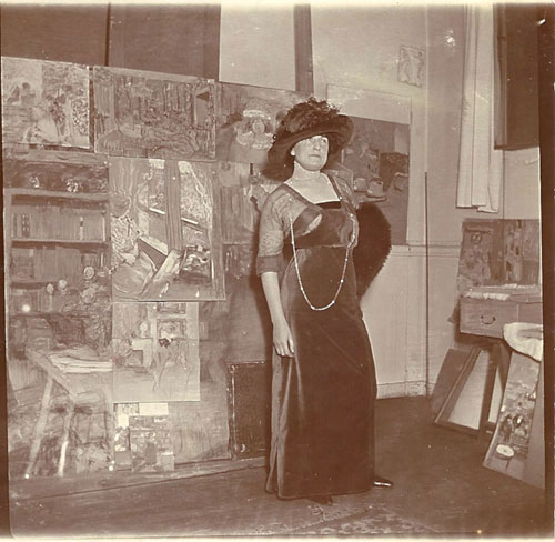 Lucy Hessel in the artist's studio, Boulevard Malesherbes, 1911. Gelatin silver print. Private collection.