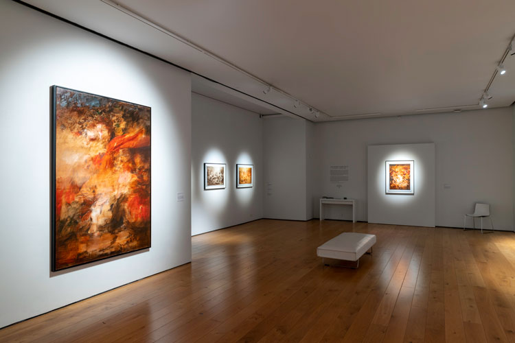 Jake Wood-Evans: Relic, installation view, the Gallery, Winchester Discovery Centre. Photo courtesy Unit London.