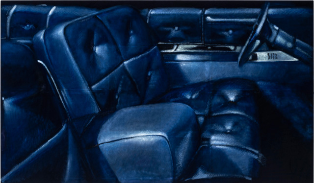 Issy Wood, Car interior / go, Daddy 1, 2019. Courtesy the artist and Carlos/Ishikawa, London.