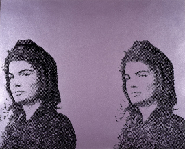 Andy Warhol. Jacqueline Kennedy II (from the portfolio Eleven Pop Artists, vol. II), 1965. Print, screenprint on paper, 60.9 x 76.2 cm. Collection: National Galleries of Scotland, purchased 1975. © 2018 The Andy Warhol Foundation for the Visual Arts, Inc. / Licensed by DACS, London. 2018.