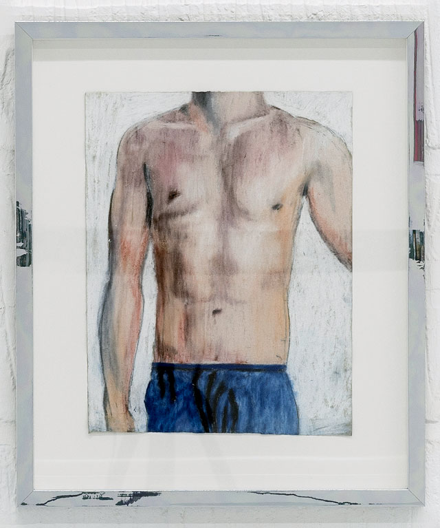 Marie Jacotey. Take a good look at his torso to remember in years to come how young we were, how soft his ribcage is under my palm, 2016-17. Dry pastel on Japanese paper, 29 x 22.5 cm. Photograph: Damian Griffiths.