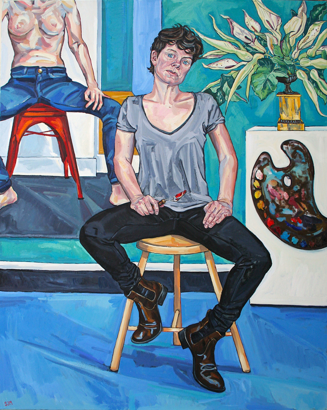 Sarah Jane Moon. Sarah Jane Moon, 2018. Oil on canvas, 124 x 154 cm. © the artist.