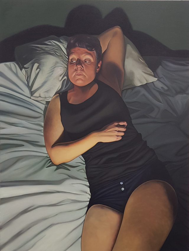 Sadie Lee. Sarah Jane Moon, 2018. Oil on canvas, 121 x 91 cm. © the artist.