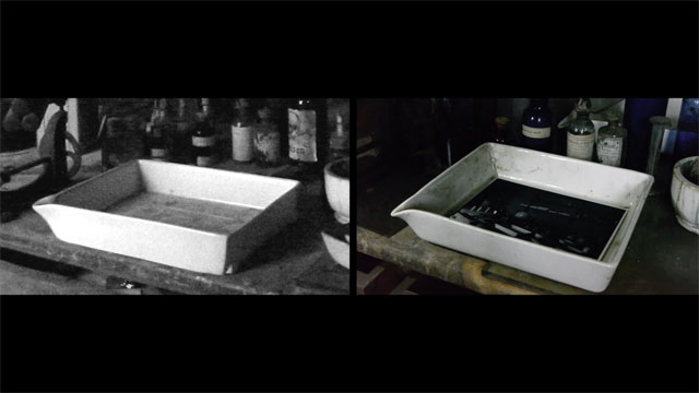 Grace Weir. Darkroom (still), 2015. Two simultaneous films, 7 min 30 sec duration.