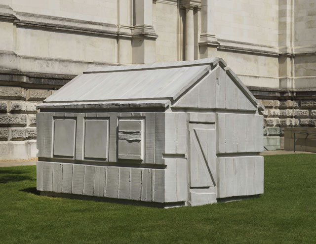 Rachel Whiteread. Chicken Shed, 2017. Concrete, 216 x 229 x 278 cm. Courtesy the artist. © Rachel Whiteread. Photograph: © Tate.