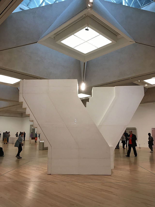 Rachel Whiteread. Untitled (stairs), 2001, installation view, Tate Britain, London, 2017. Plaster, fibreglass and wood, 375 x 220 x 580 cm Photograph: Veronica Simpson.