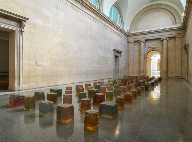 Rachel Whiteread. Untitled (One Hundred Spaces), 1995. Resin, various dimensions . Pinault collection. © Rachel Whiteread. Photograph: © Tate (Seraphina Neville and Andrew Dunkley).