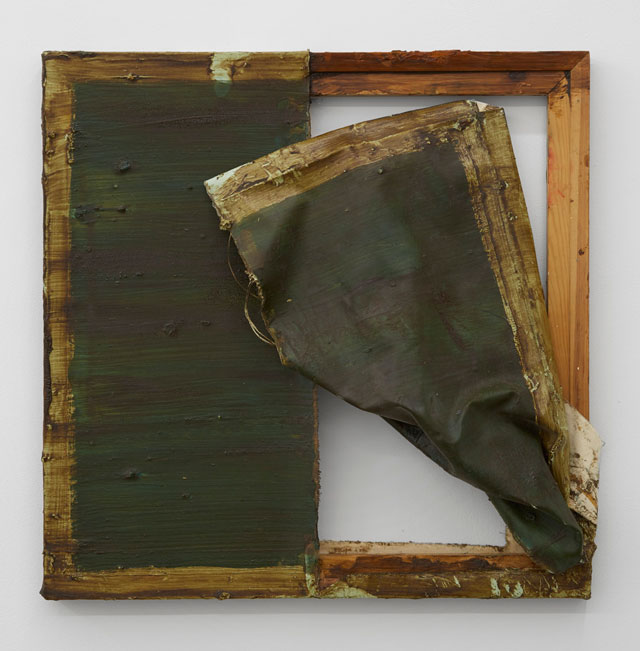Angela de la Cruz. Ripped. Canvas, paint, wood, 60 x 60 x 3 cm. © Angela de la Cruz, Courtesy Lisson Gallery - Breese Little.