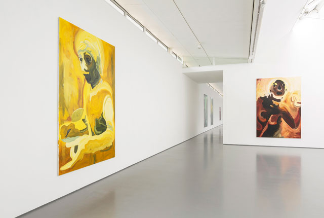 Clare Woods. Installation view (4), Victim of Geography exhibition at Dundee Contemporary Arts. Photograph: Ruth Clark.