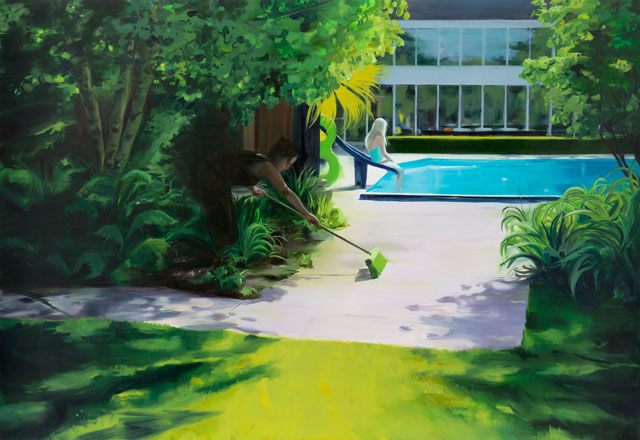 Caroline Walker. In Every Dream Home, 2013. Oil on linen, 200 x 290 cm. © the artist.
