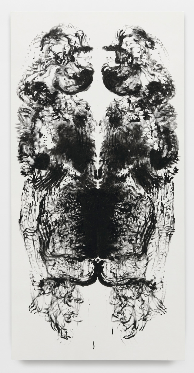 Mark Wallinger. id Painting 7, 2015. Acrylic on canvas, 360 x 180 cm (141 3/4 x 70 7/8 in). Photograph: Alex Delfanne. © Mark Wallinger. Courtesy the artist and Hauser & Wirth.