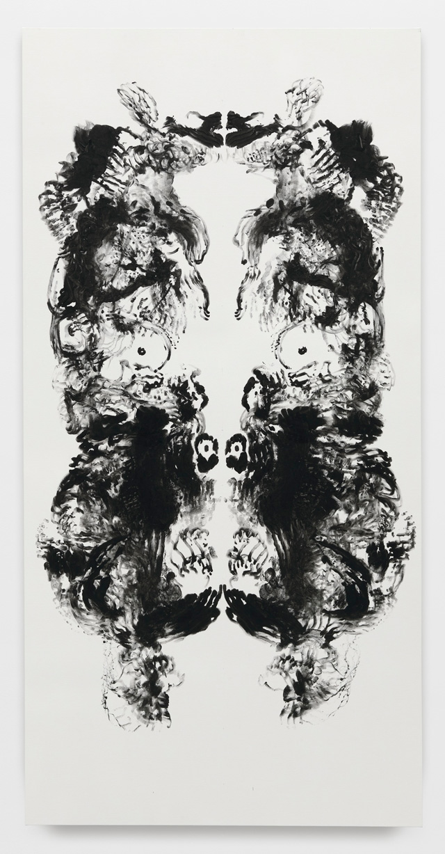 Mark Wallinger. id Painting 12, 2015. Acrylic on canvas, 360 x 180 cm (141 3/4 x 70 7/8 in). Photograph: Alex Delfanne. © Mark Wallinger. Courtesy the artist and Hauser & Wirth.