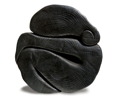 Wang Keping. Fée de Lune, 2012. Bronze, 67 x 66 x 14 cm (26 3/8 x 26 x 5 1/2 in). Courtesy of Ben Brown Fine Arts, London.