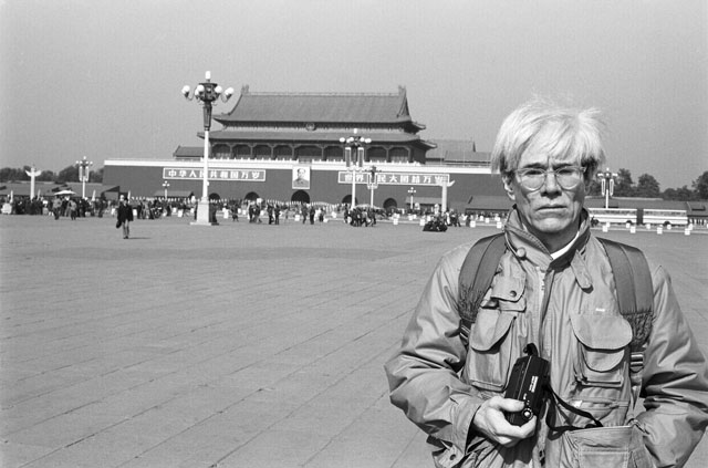 Christopher Makos. Andy Warhol in Tiananmen Square, 1982. © Christopher Makos 1982, makostudio.com.