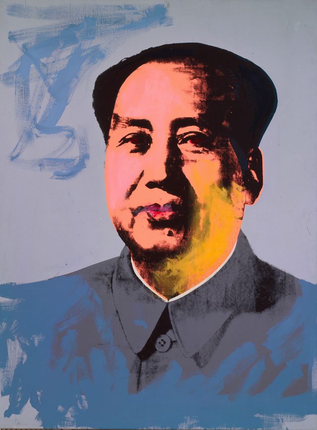 Andy Warhol. Mao, 1972. Acrylic and silkscreen ink on linen, 208.3 x 154.9 cm. The Andy Warhol Museum, Pittsburgh; Founding Collection, Contribution Dia Center for the Arts. © The Andy Warhol Foundation for the Visual Arts, Inc./ARS, New York. Licensed by Viscopy, Sydney.