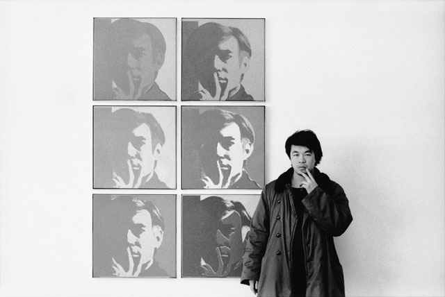 Ai Weiwei. At the Museum of Modern Art, 1987, from the New York Photographs series 1983–93. Silver gelatin photograph. Collection of Ai Weiwei. © Ai Weiwei.