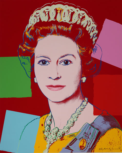 Andy Warhol. Reigning Queens: Queen Elizabeth II of the United Kingdom, 1985. Founding Collection, The Andy Warhol Museum, Pittsburgh © 2008 Andy Warhol Foundation for the Visual Arts / ARS, New York.