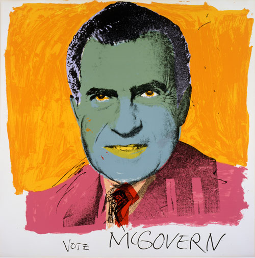 Andy Warhol. Vote McGovern, 1972. Founding Collection, The Andy Warhol Museum, Pittsburgh © 2008 Andy Warhol Foundation for the Visual Arts / ARS, New York.