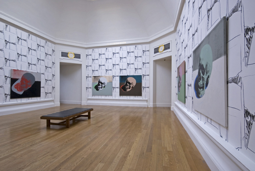 Photograph of the Skulls Room. © Art works licensed by the Andy Warhol Foundation for the Visual Arts, Inc/ARS, New York and DACS London 2007. Photograph by Michael Wolchover