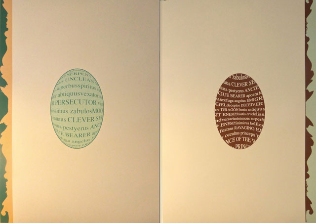Ian Howard book page. Screen print, each page 90 x 60 cm.