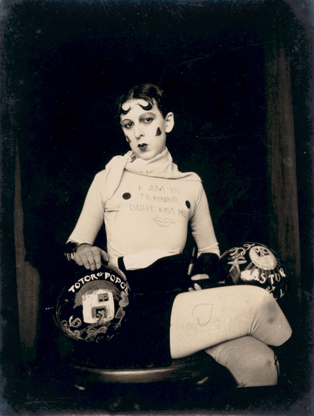 I am in training don't kiss me by Claude Cahun c1927. Jersey Heritage Collections. Copyright: Jersey Heritage.