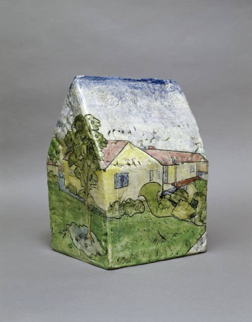 Robert Arneson. Box House Landscape with a View of Alice and