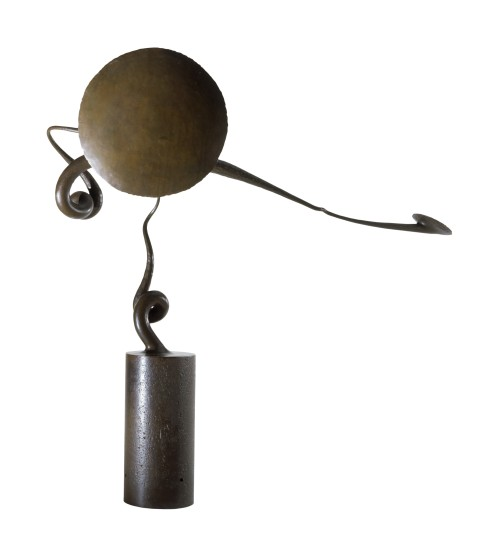 Brent Kington. Weathervane, 1978. Steel, paint; forged, painted. Gift of Thelma Klein, 1994.