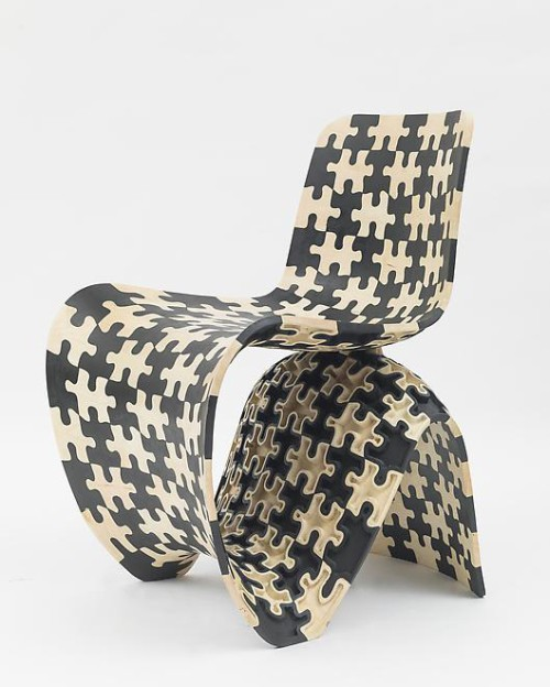 Joris Laarman. Maker Chair (Puzzle) (Prototype), 2014. Maple. Museum purchase with funds provided by Marcia and Alan Docter, 2014.