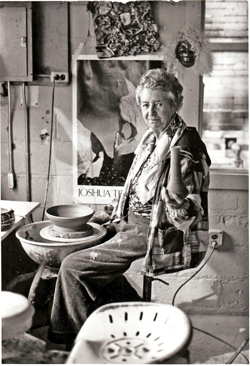 Aileen Osborn Webb in Her Pottery Studio, date unknown. Photograph: American Craft Council.