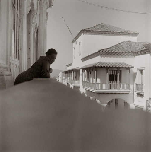 Carrie Mae Weems. Listening for the Sounds of Revolution (from Dreaming in Cuba), 2002. Gelatin silver print, 28 1/2 x 28 1/2 inches (72.4 x 72.4 cm). Collection of the artist, courtesy the artist and Jack Shainman Gallery, New York. © Carrie Mae Weems.