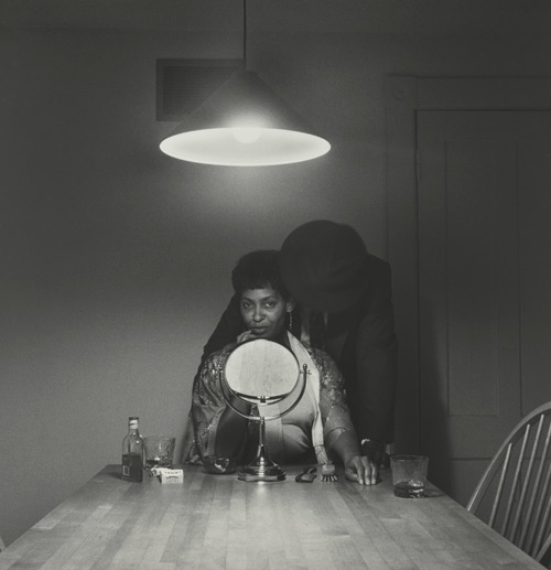Carrie Mae Weems. Untitled (Man and mirror) (from Kitchen Table Series), 1990. Gelatin silver print, 27 1/4 x 27 1/4 inches (69.2 x 69.2 cm).