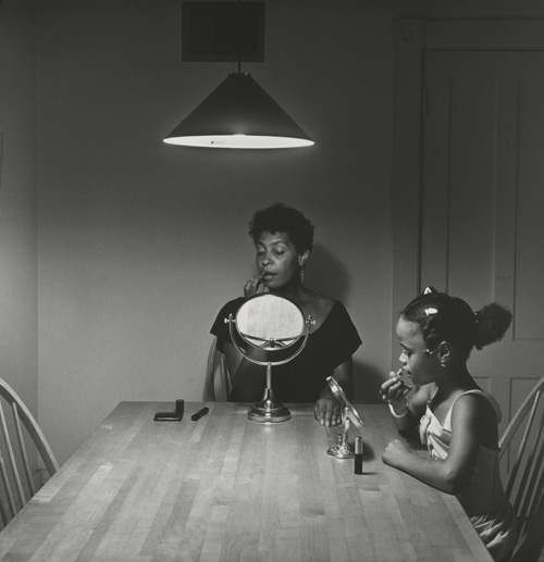 Carrie Mae Weems. Untitled (Woman and daughter with makeup) (from Kitchen Table Series), 1990.