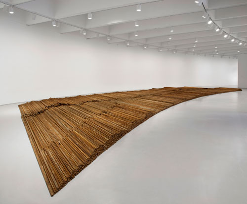 Ai Weiwei. Straight, 2008–12. Steel reinforcing bars, dimensions variable. © Ai Weiwei