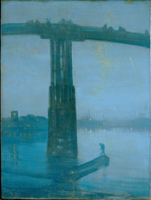 James Abbott McNeill Whistler. Nocturne: Blue and Gold ‐ Old Battersea Bridge, 1872-3. Oil on canvas, 68.3 x 51.2 cm. Tate, London.