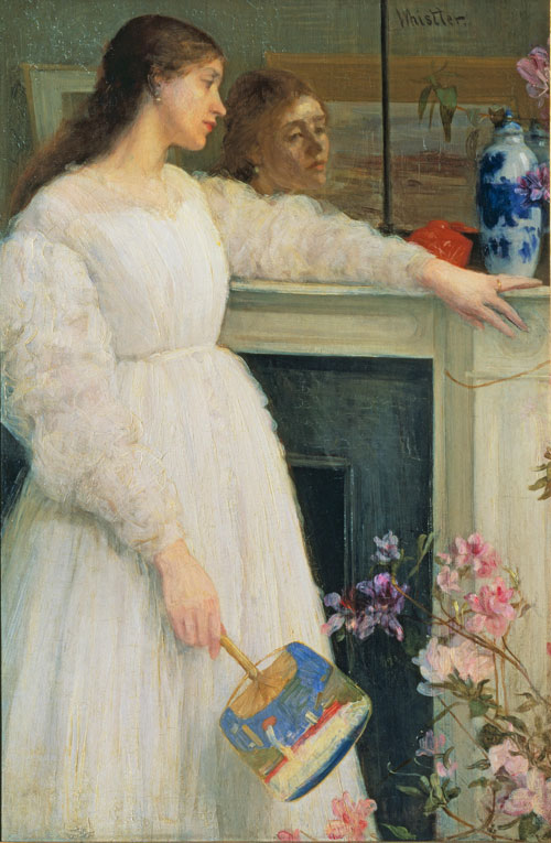 James Abbott McNeill Whistler. Symphony in White No. 2: The Little White Girl, 1864. Oil on canvas, 76.5 x 51.1 cm. Tate, London.