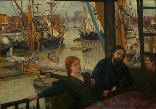 James Abbott McNeill Whistler. Wapping, 1860‐4. Oil on canvas, 71.1 x 101.6 cm. National Gallery of Art, Washington DC.