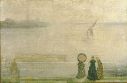 James Abbott McNeill Whistler. Battersea Reach from Lindsey Houses, c.1864. Oil on canvas, 51 x 76.52 cm. The Hunterian, University of Glasgow.