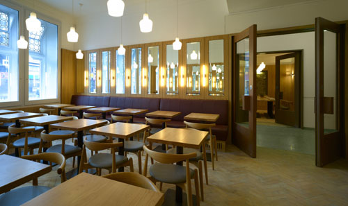 Whitechapel Gallery: New spaces. Whitechapel Gallery Dining Room. Photo: Richard Bryant