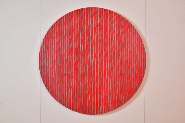 Kate Whiteford. Punctuation Series, (After Capability Brown) Full stop, 2016. Acrylic on canvas over panel, 122 cm diameter.